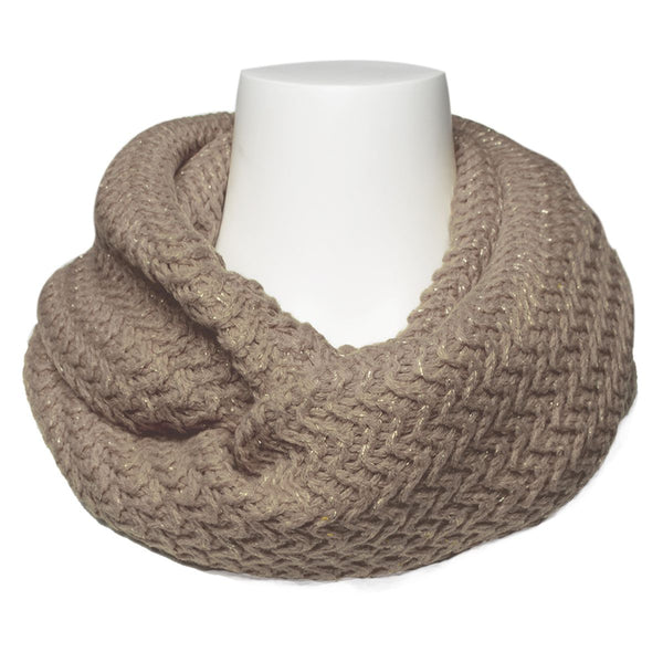 Loop Infinity Scarf With Metallic Knit by The Royal Standard