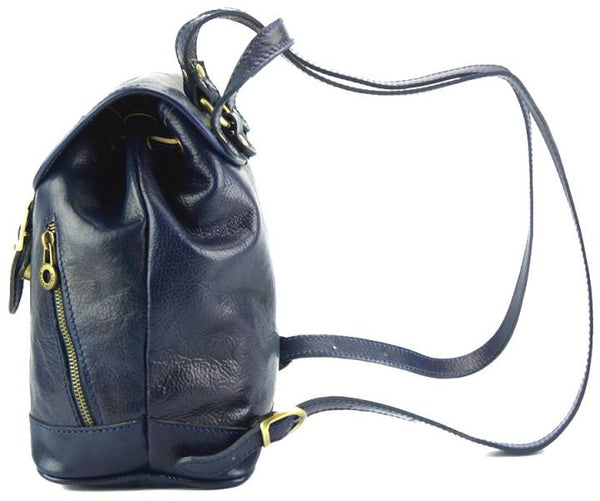 Luminosa Leather Backpack purse