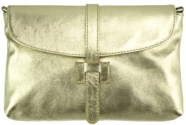 Malak Clutch in smooth calfskin leather