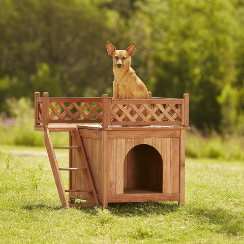 Merry Products Room with a View Wood Dog and Cat House