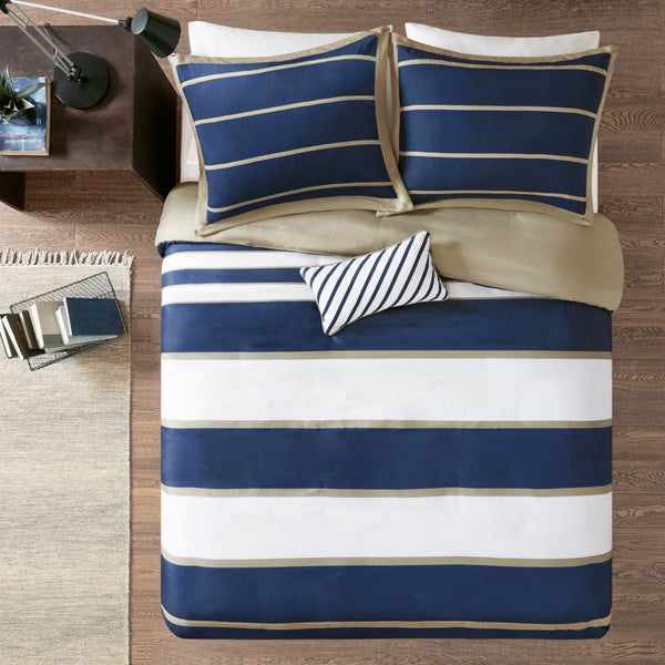 Mizone Ashton Duvet Cover Set in Blue