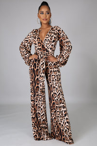 Just For You Leopard Print Jumpsuit