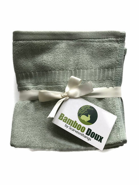 3- Bamboo Doux Hypoallergenic Ecofriendly Antibacterial Antifungal Wash Cloths/Face Towel