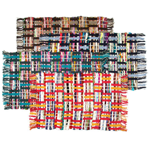 Sunrise Chindi Rug of Colorful Recycled Fabric - Many Styles