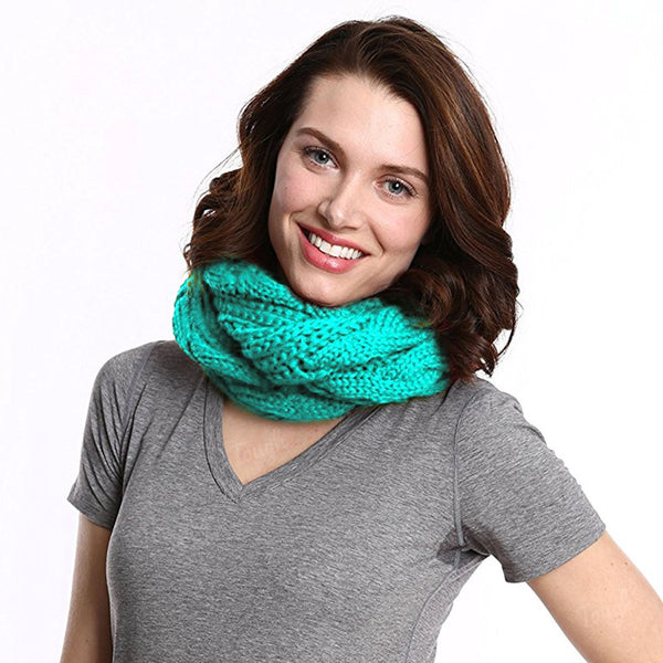 Women's Cable Knit Infinity Scarf By Tickled Pink - Soft, Versatile