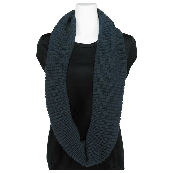 Women's Classic Knit Wide Infinity Scarf - Warm and Soft Acrylic