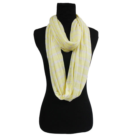 Yellow Striped Infinity Scarf