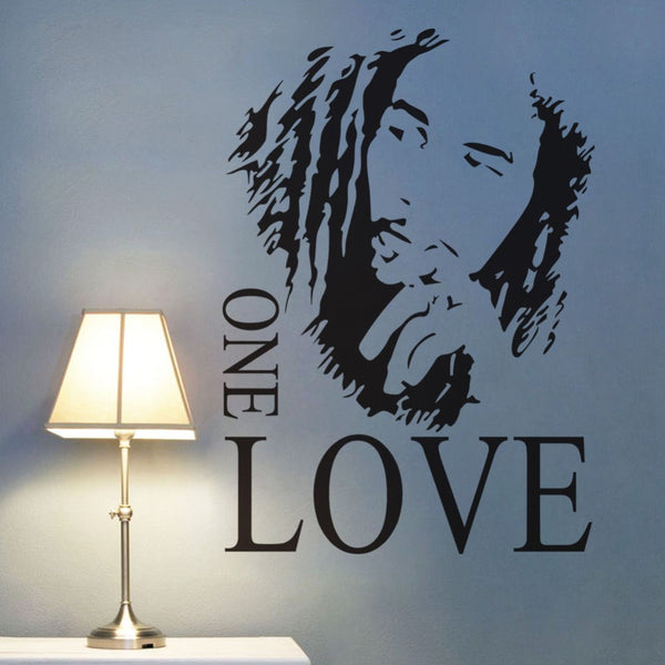 bob marley one love wall decal sticker