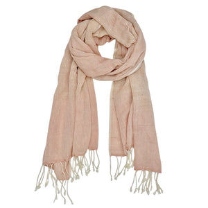 Blush Organic Cotton Gauze Scarf
