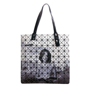 Michelle Obama Black and White Prism Tote