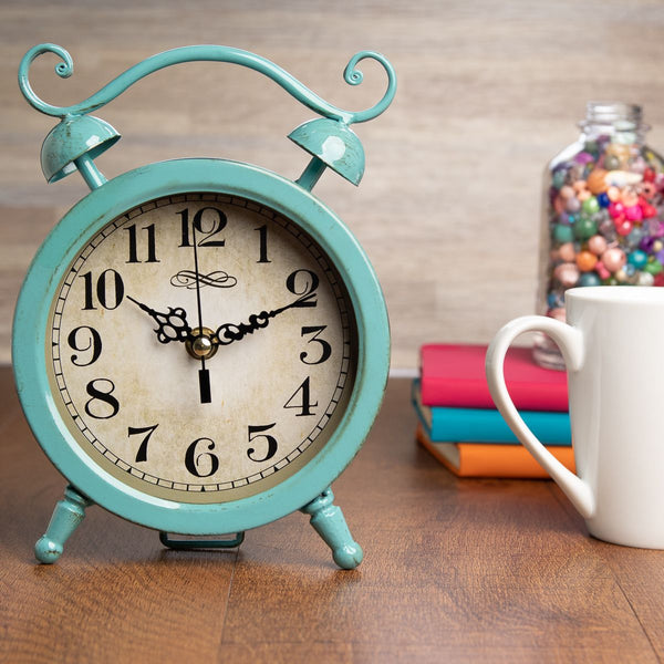 Vintage-Style Metal Table Clock by Better Homes & Gardens