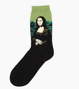 Mona Lisa Art Socks