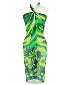 Pareo Print Beach Pool Hawaiian Sarong Wrap & Scarf