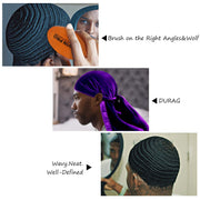 MAIS VALIA - Kit WeaveIn Pro para Waves (Durag e Escova)