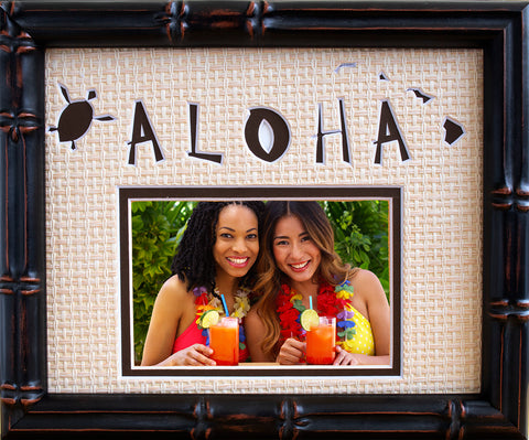 Aloha Photo Mat with 1 photo opening, 8x10