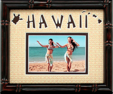 Hawaii Photo Mat with 1 photo opening, 8x10
