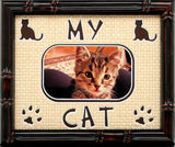"My Cat Photo Mat with 1 photo opening, 8""x10"""