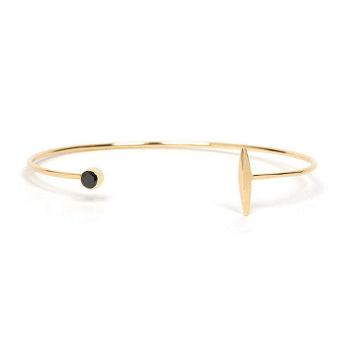 Black Diamond and Dart Cuff Bracelet