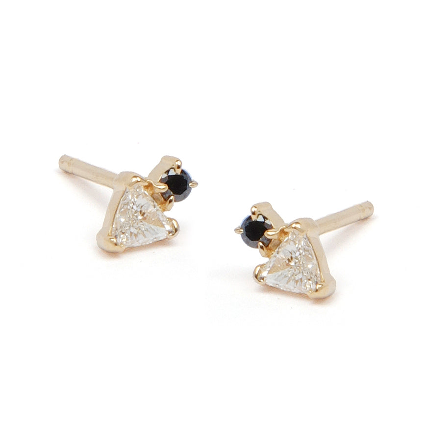 Trillion Diamond Stud Earring