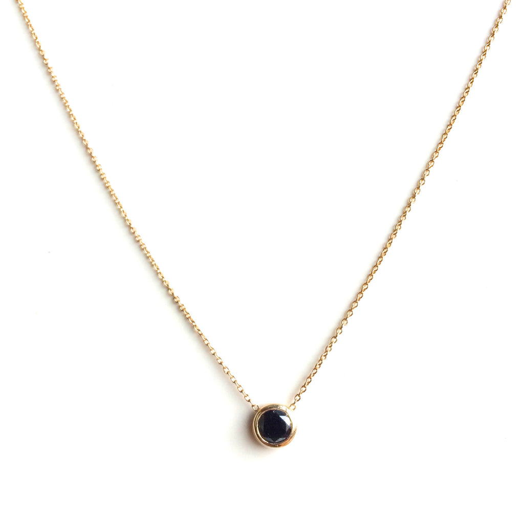 Simple Black Diamond Necklace