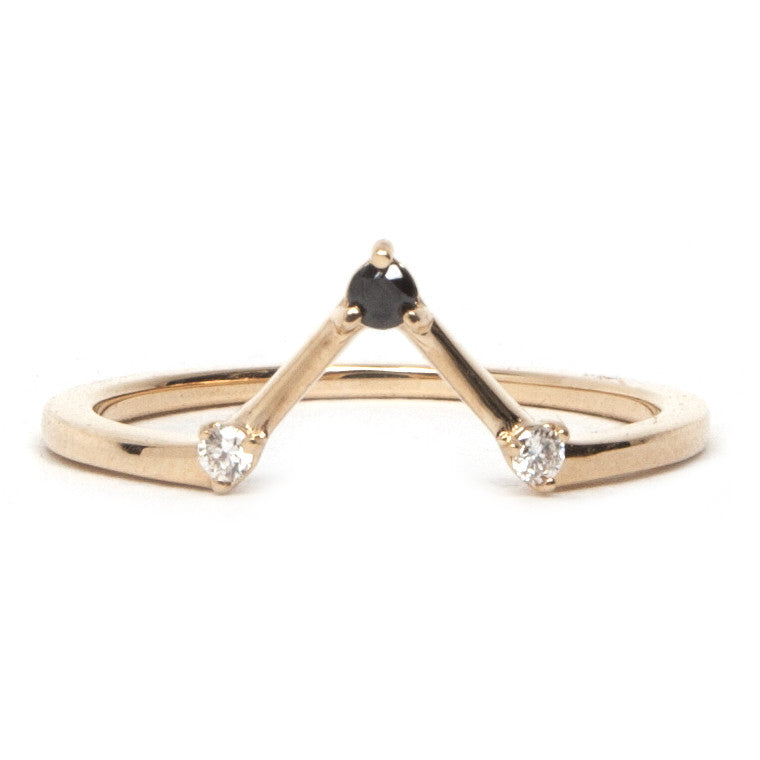 Black and White Diamond Elyse Ring
