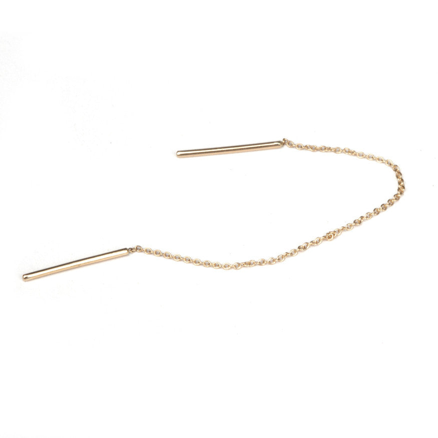Threaded Chain Earring