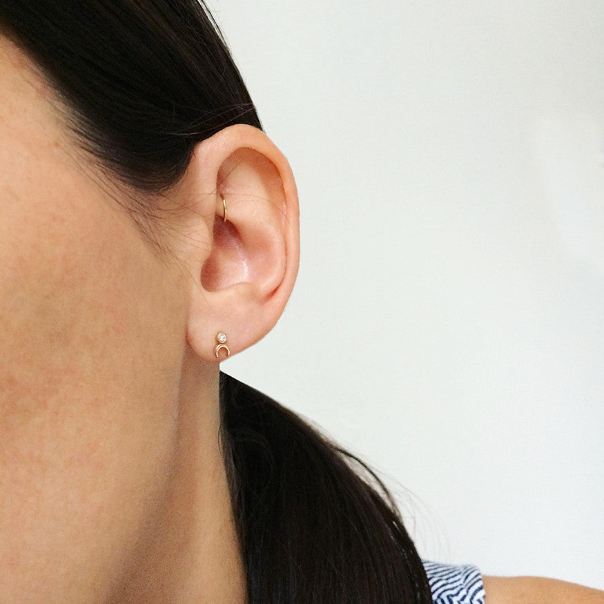 Tiny Continuous Hoop Earring