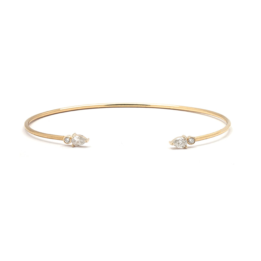 Pear Diamond Cuff Bracelet