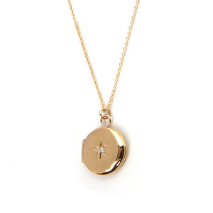 Diamond Locket Necklace