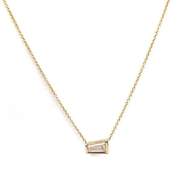 Tapered Baguette Diamond Necklace