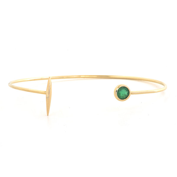 Emerald and Dart Cuff Bracelet