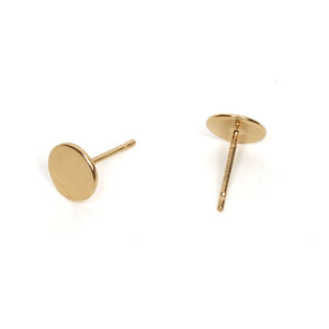 Simple Gold Disc Stud Earrings