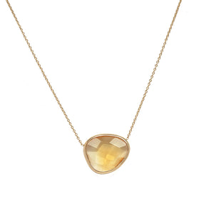 Freeform Citrine Necklace