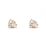 Diamond Cluster Stud Earring