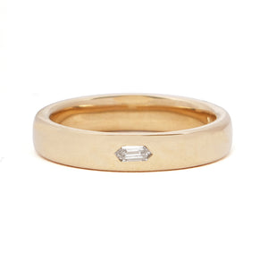 Gold Prism Diamond Ring Hex