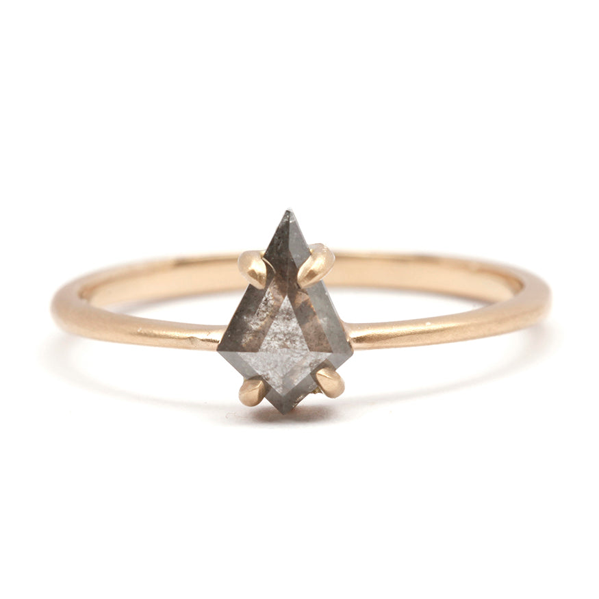 Prong Grey Diamond Kite Ring