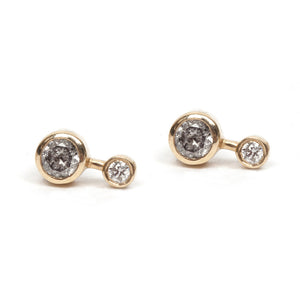 Round Diamond Duo Stud Earring