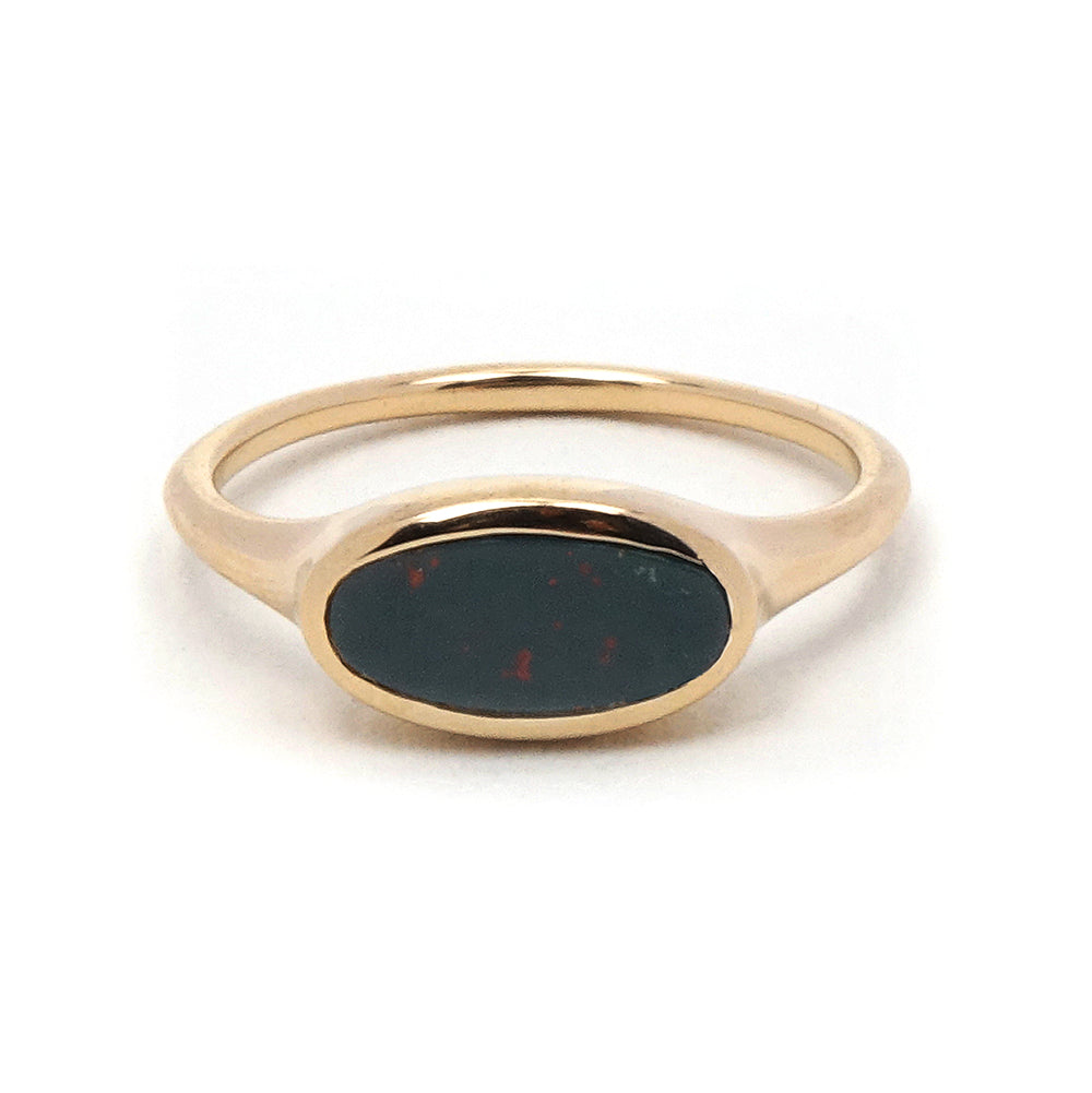 Heliotrope Bloodstone Ring