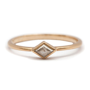 Light Grey Diamond Kite Ring