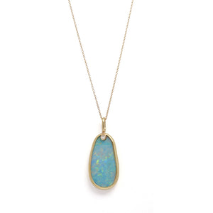 Opal Necklace with Diamond