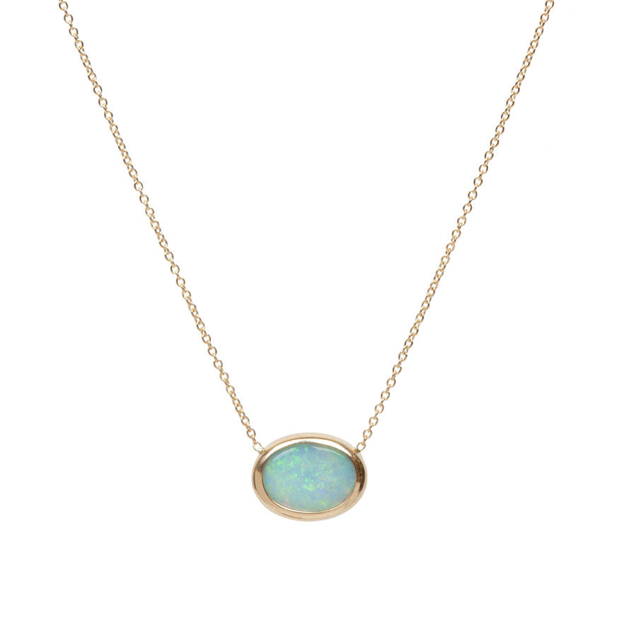 Gold and Opal Necklace