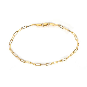 Elongated Link Gold Bracelet