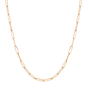 Elongated Oval Chain Link Necklace
