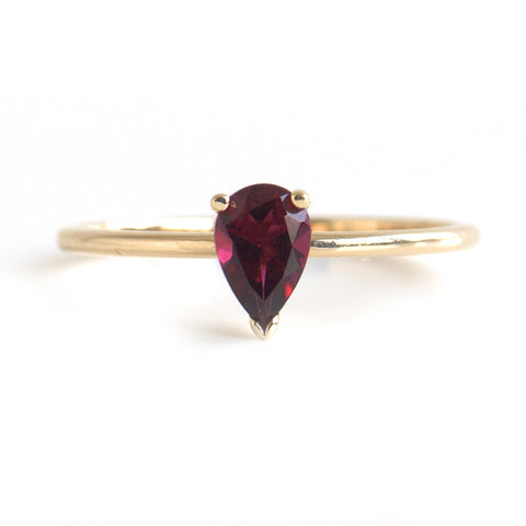 Pear Cut Tourmaline Ring