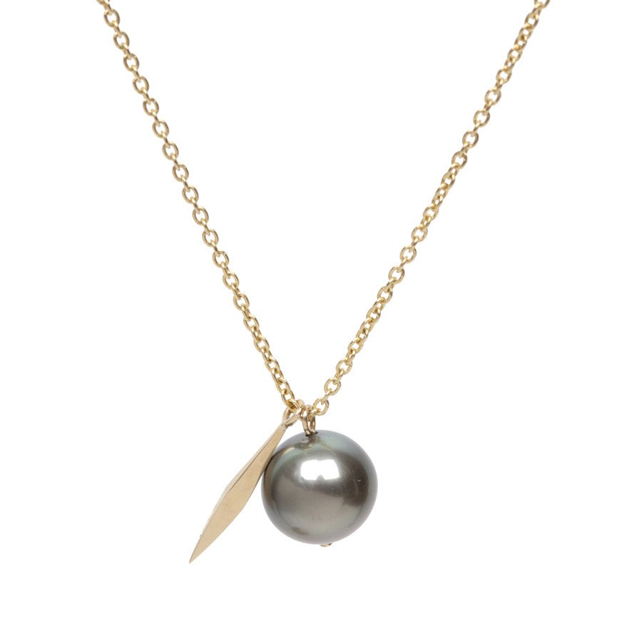 Tahitian Pearl Long Dart Necklace