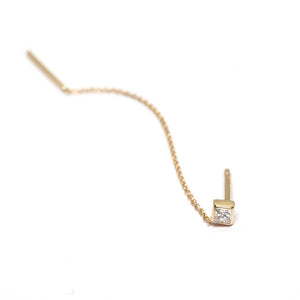 Princess Cut Diamond Threader