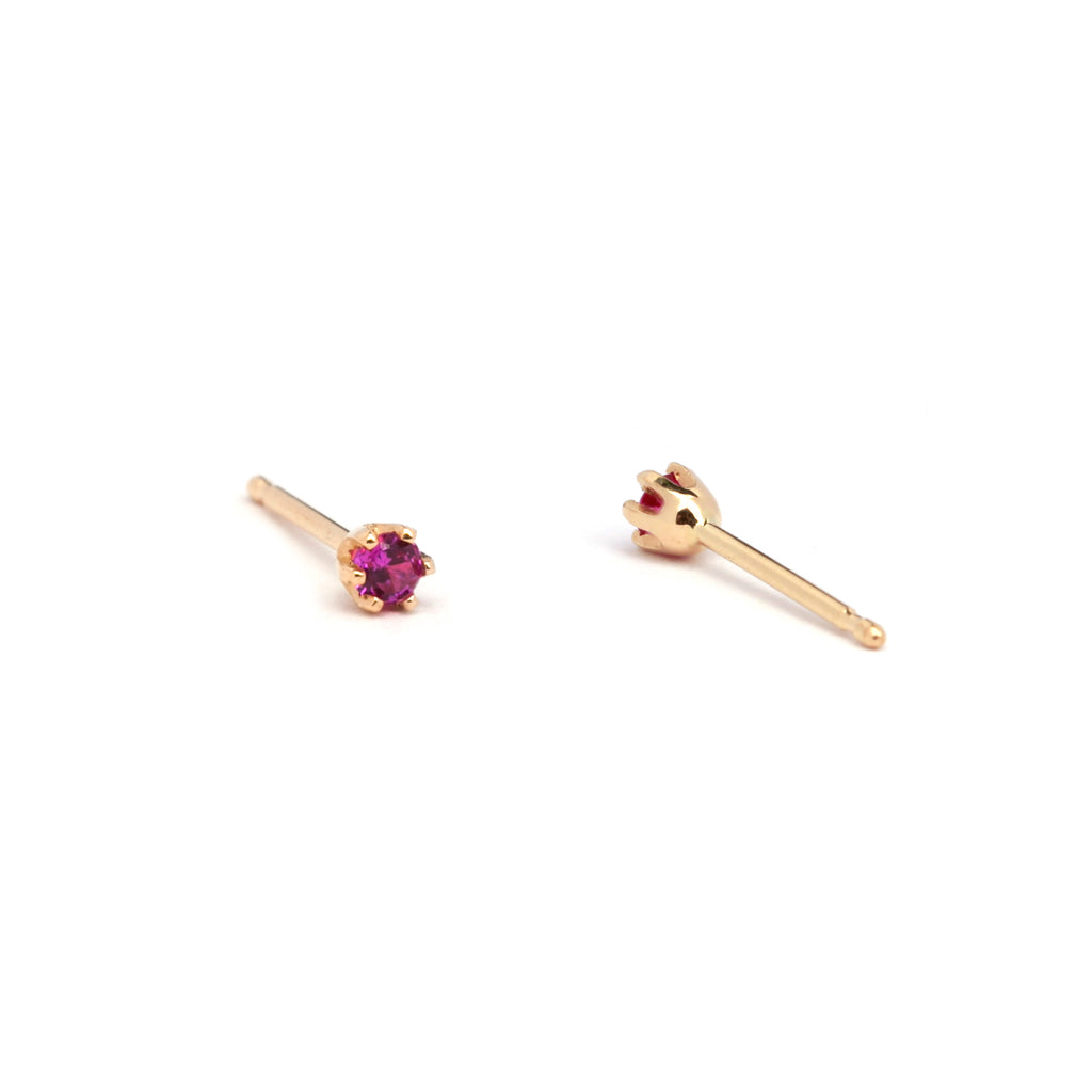Six Prong Stud Earrings