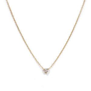Tiny Diamond Chip Necklace