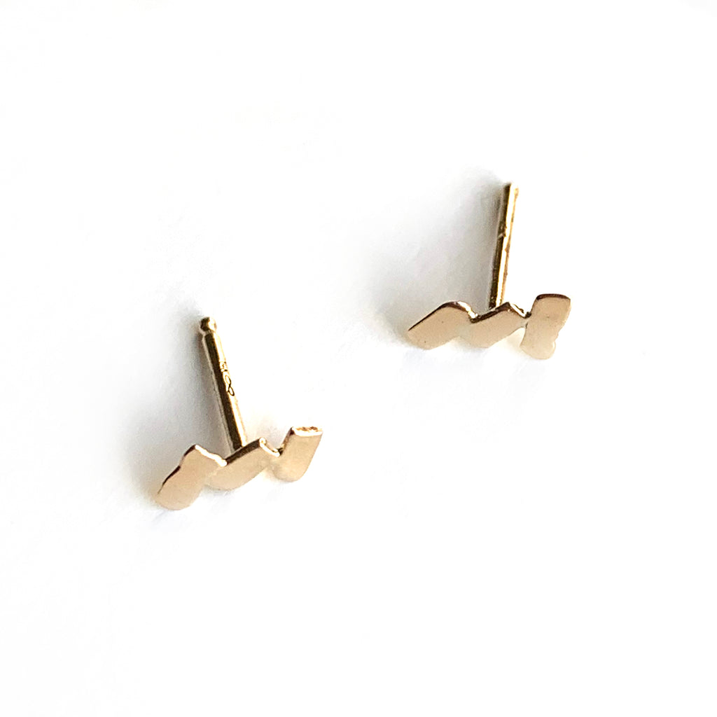 Zig Zag Stud Earrings