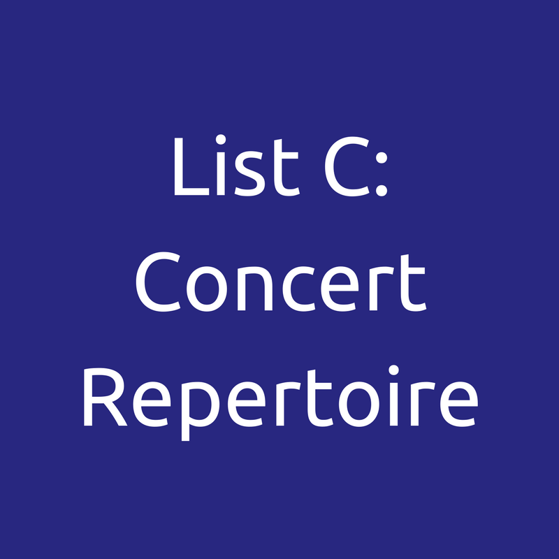 List C: Concert Repertoire